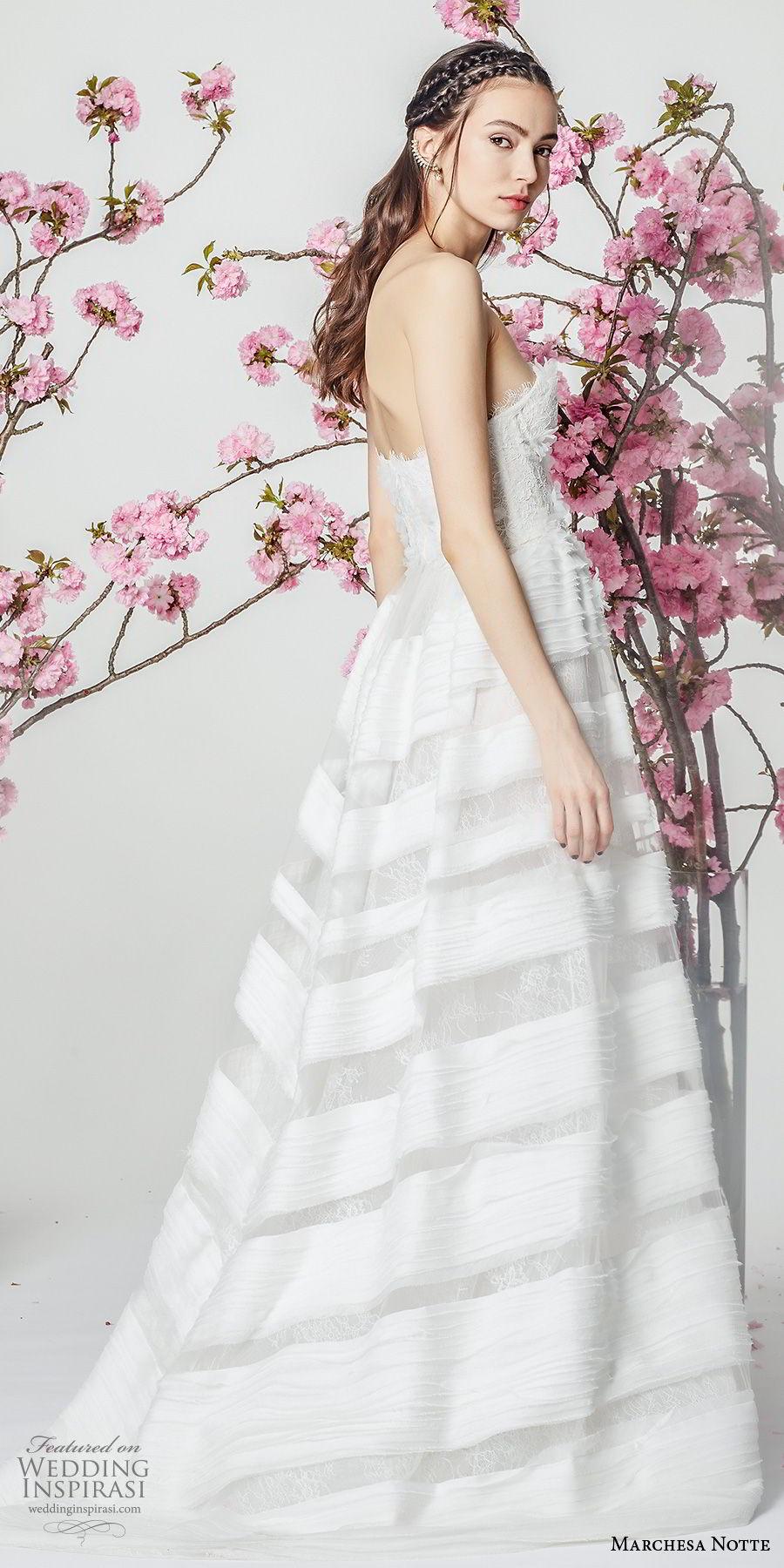 marchesa notte spring 2018 bridal strapless sweetheart neckline heavily embellished romantic a  line wedding dress (3) sdv