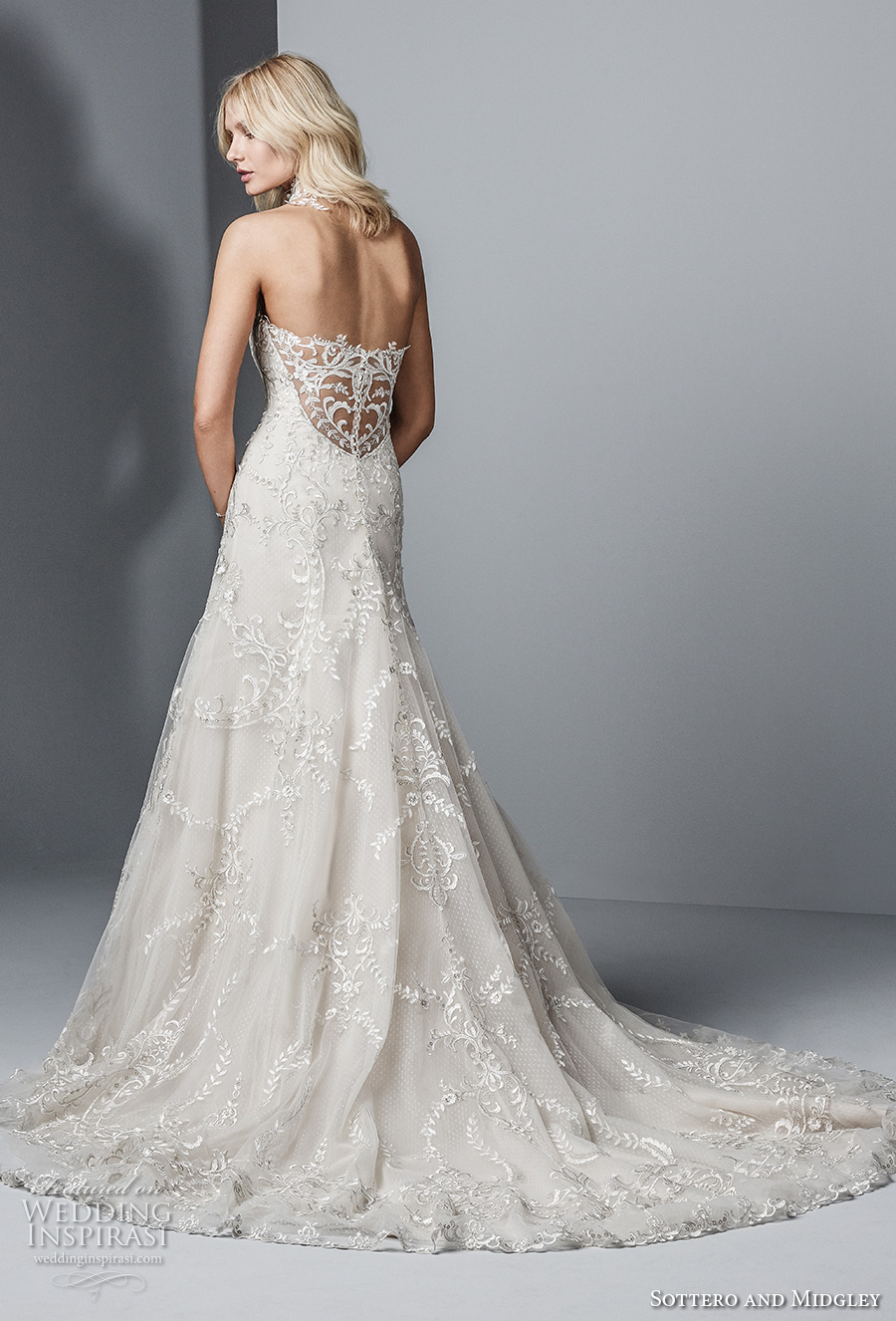 sottero midgley fall 2017 strapless sweetheart neckline full embellishment elegant a line wedding dress mid lace back medium train (601) bv