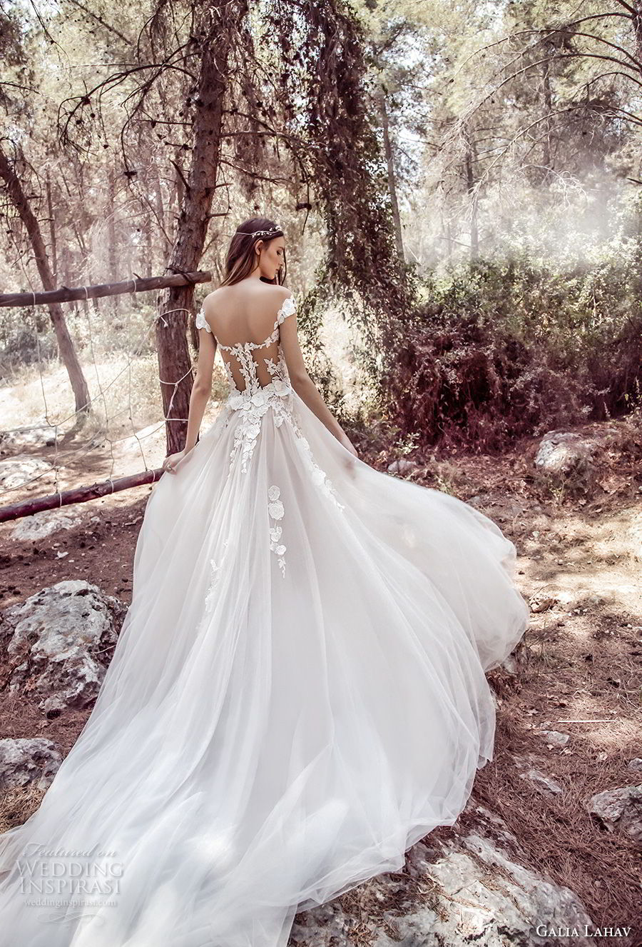 galia lahav gala 4 2018 bridal cap sleeves sweetheart neckline heavily embellished bodice tulle skirt romantic princess a line wedding dress mid lace back royal train (902) bv