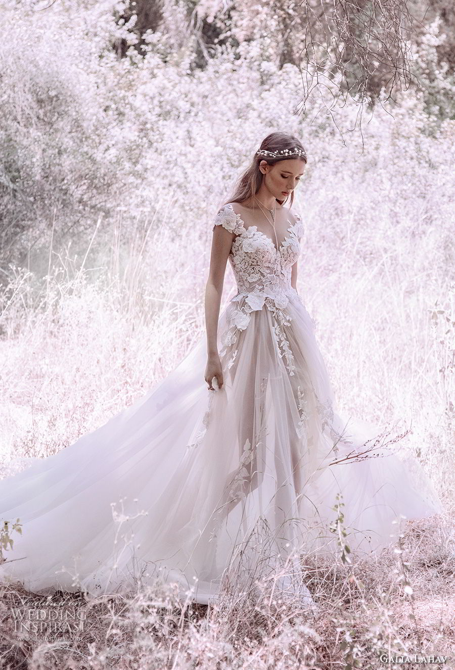 Gala by galia lahav 2018 wedding dresses bridal collection no iv galia lahav gala 4 2018 bridal cap sleeves sweetheart neckline heavily embellished bodice tulle skirt romantic junglespirit Images
