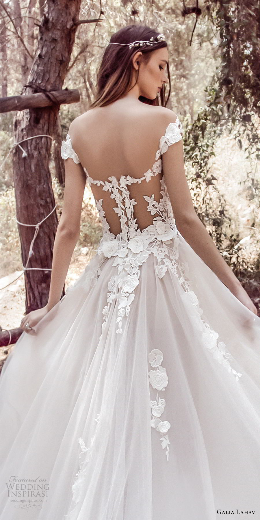 galia lahav gala 4 2018 bridal cap sleeves sweetheart neckline heavily embellished bodice tulle skirt romantic princess a line wedding dress mid lace back royal train (902) zbv
