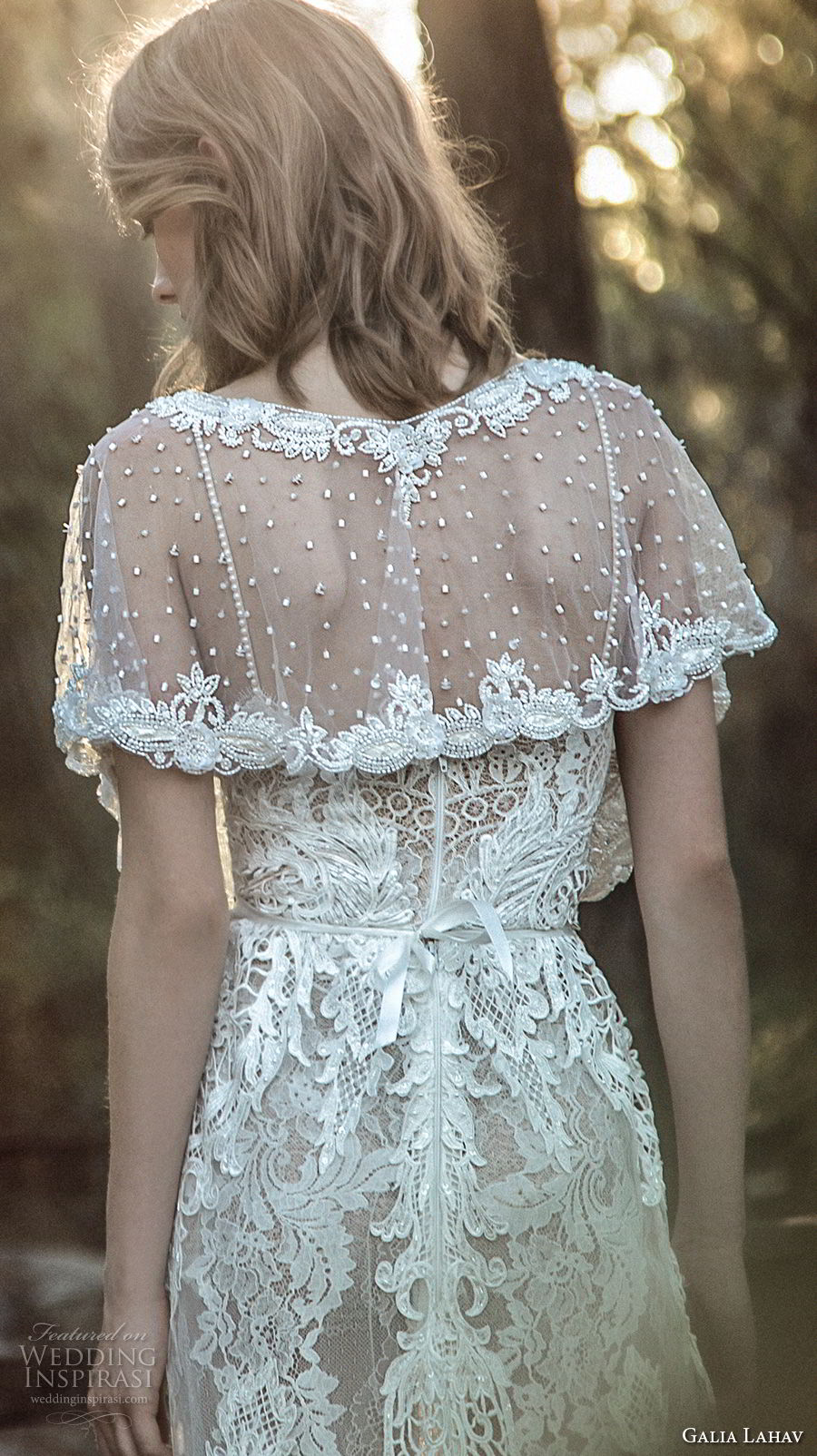 galia lahav gala 4 2018 bridal jewel neck sheer beaded capelet (914) bv
