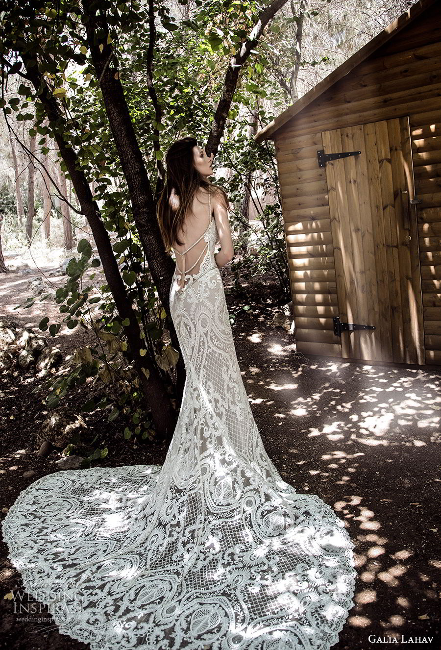 galia lahav gala 4 2018 bridal sleeveless thin strap deep plunging v neck full embellishment elegant sexy sheath wedding dress open back chapel train (904) bv