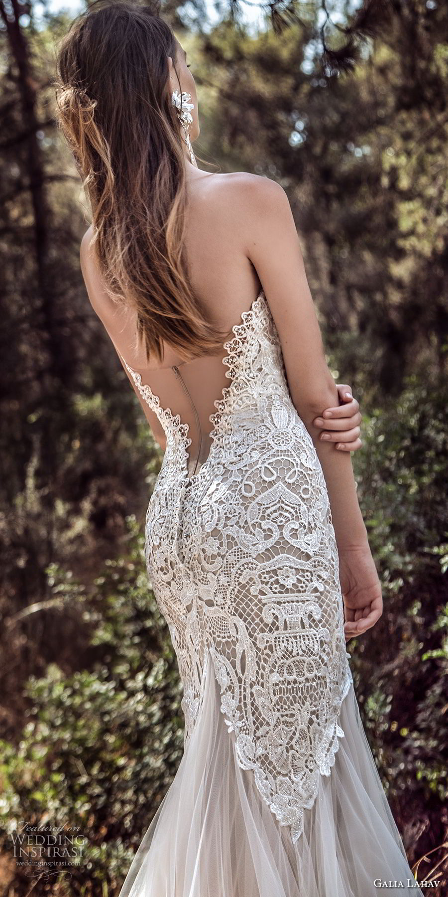 galia lahav gala 4 2018 bridal strapless deep plunging sweetheart neckline full embellishment elegant drop waist a line wedding dress open low back chapel train (912) bv
