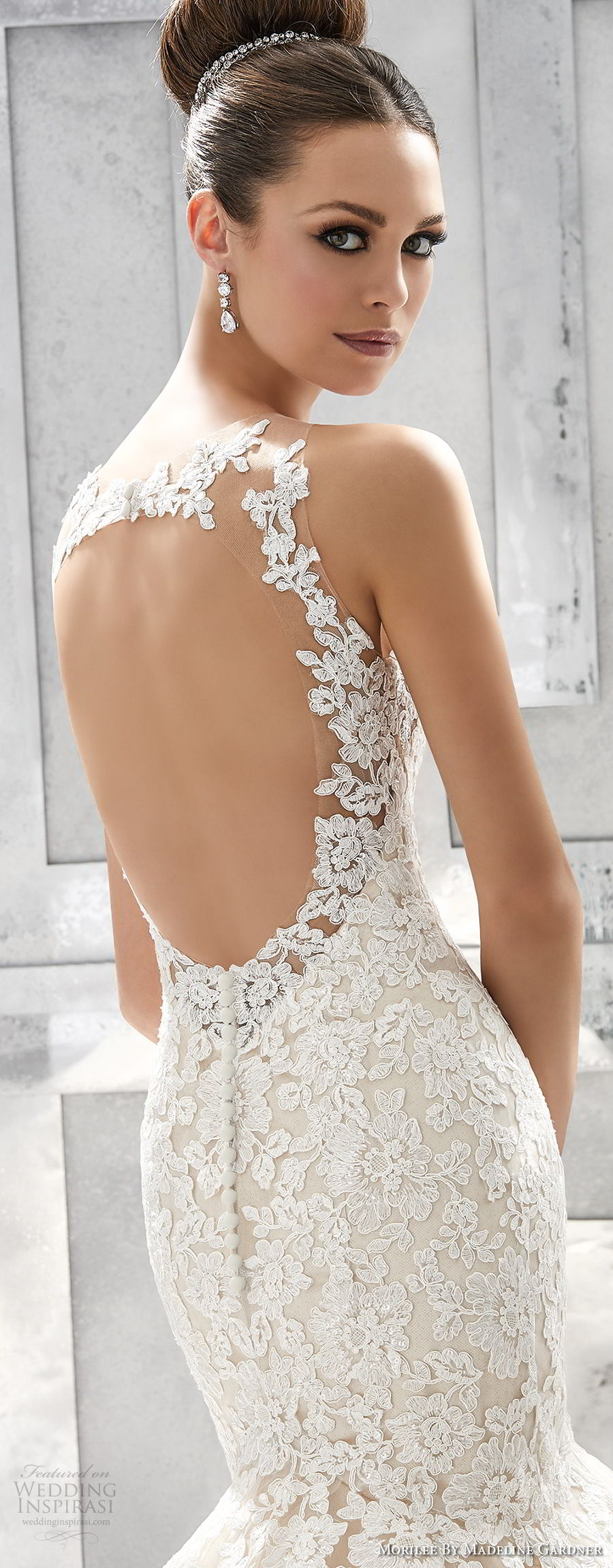 morilee fall 2017 blu bridal sleeveless embroidered strap sweetheart neckline heavily embellished bodice elegant romantic blush color mermaid weedding dress keyhole back chapel train (71) zbv