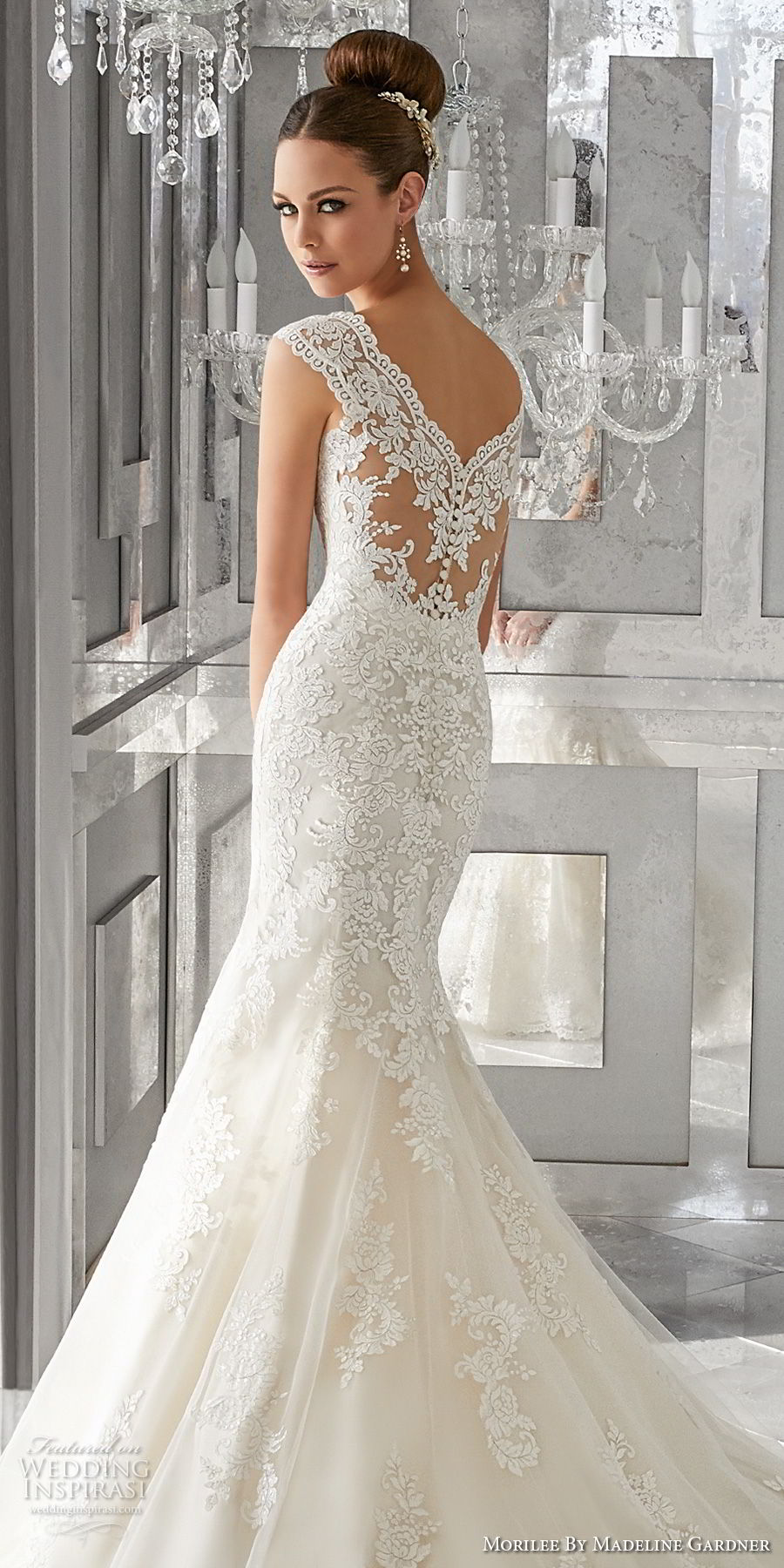 morilee fall 2017 blu bridal sleeveless thick strap v neck full embellishment elegant fit and flare wedding dress lace back royal train (62) zbv