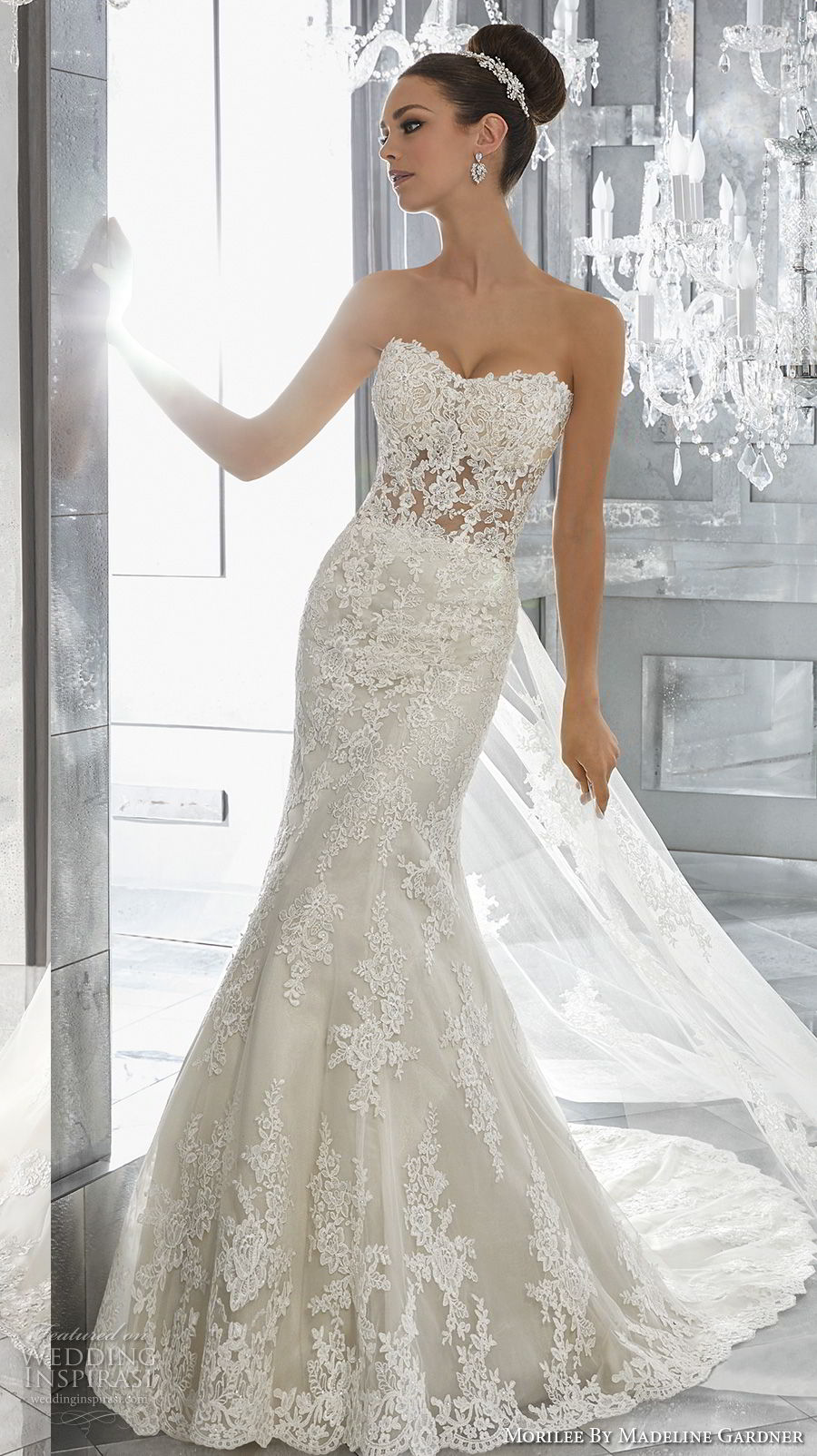 morilee fall 2017 blu bridal strapless semi sweetheart neckline full embellishment elegant fit and flare wedding dress chapel train (72) mv