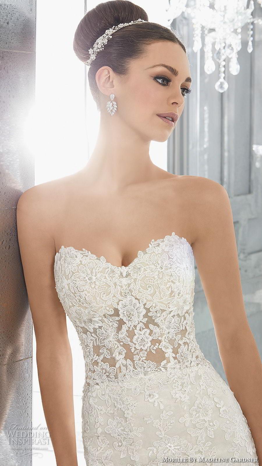 morilee fall 2017 blu bridal strapless semi sweetheart neckline full embellishment elegant fit and flare wedding dress chapel train (72) zv