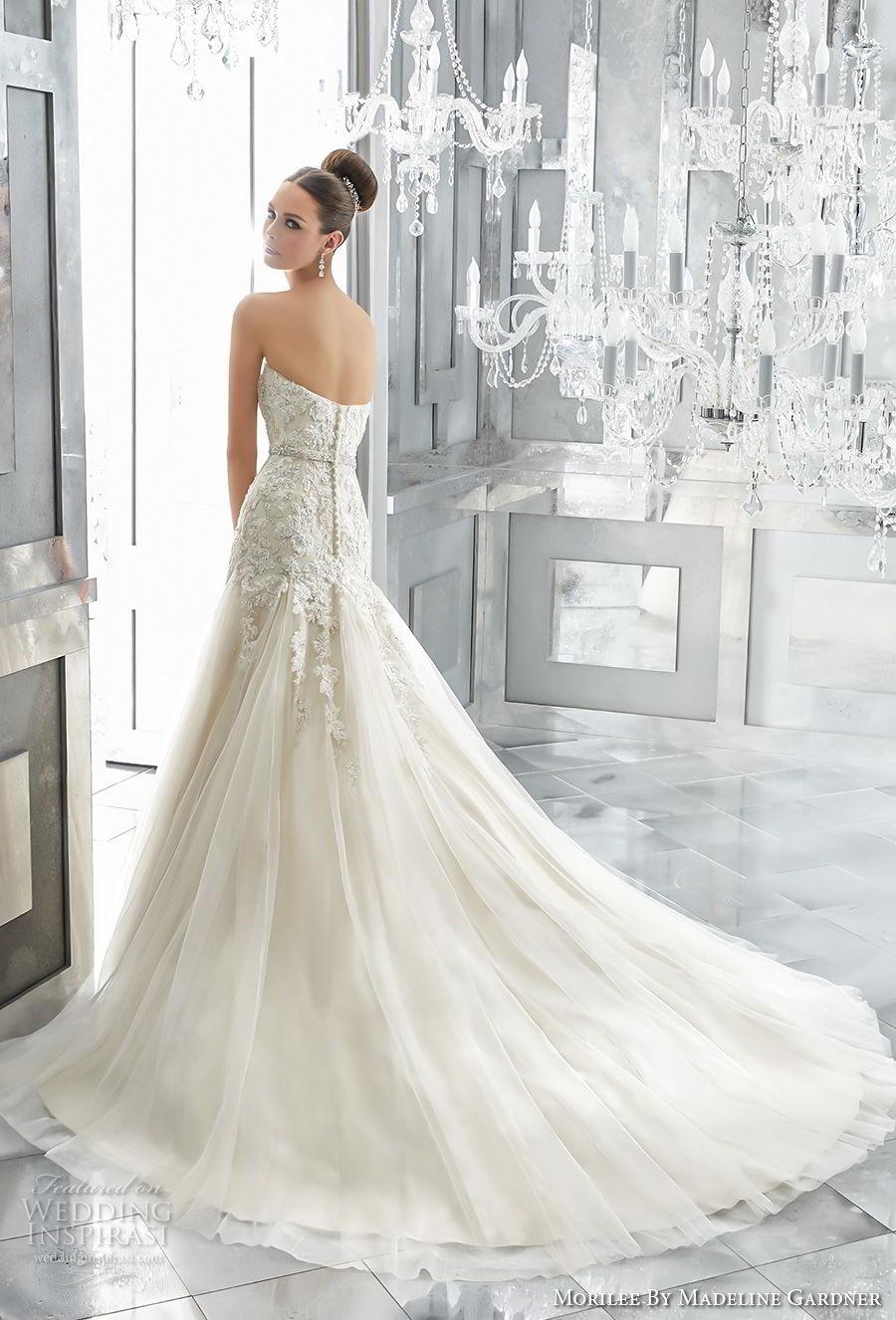 morilee fall 2017 blu bridal strapless sweetheart neckline heavily embellished bodice elegant romantic a  line wedding dress chapel train (2) bv