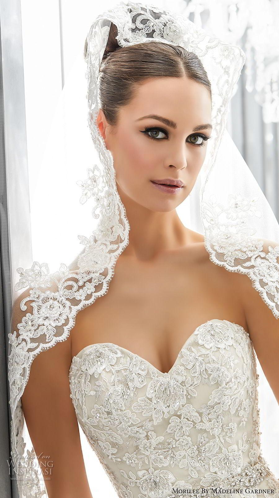 morilee fall 2017 blu bridal strapless sweetheart neckline heavily embellished bodice elegant romantic a  line wedding dress chapel train (2) zv