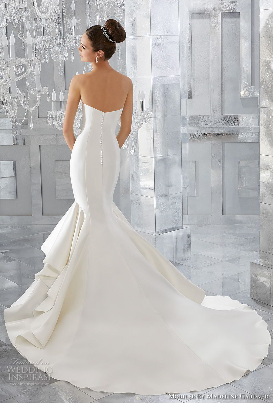 morilee fall 2017 blu bridal strapless sweetheart neckline simple clean elegant mermaid wedding dress chapel train (63) bv