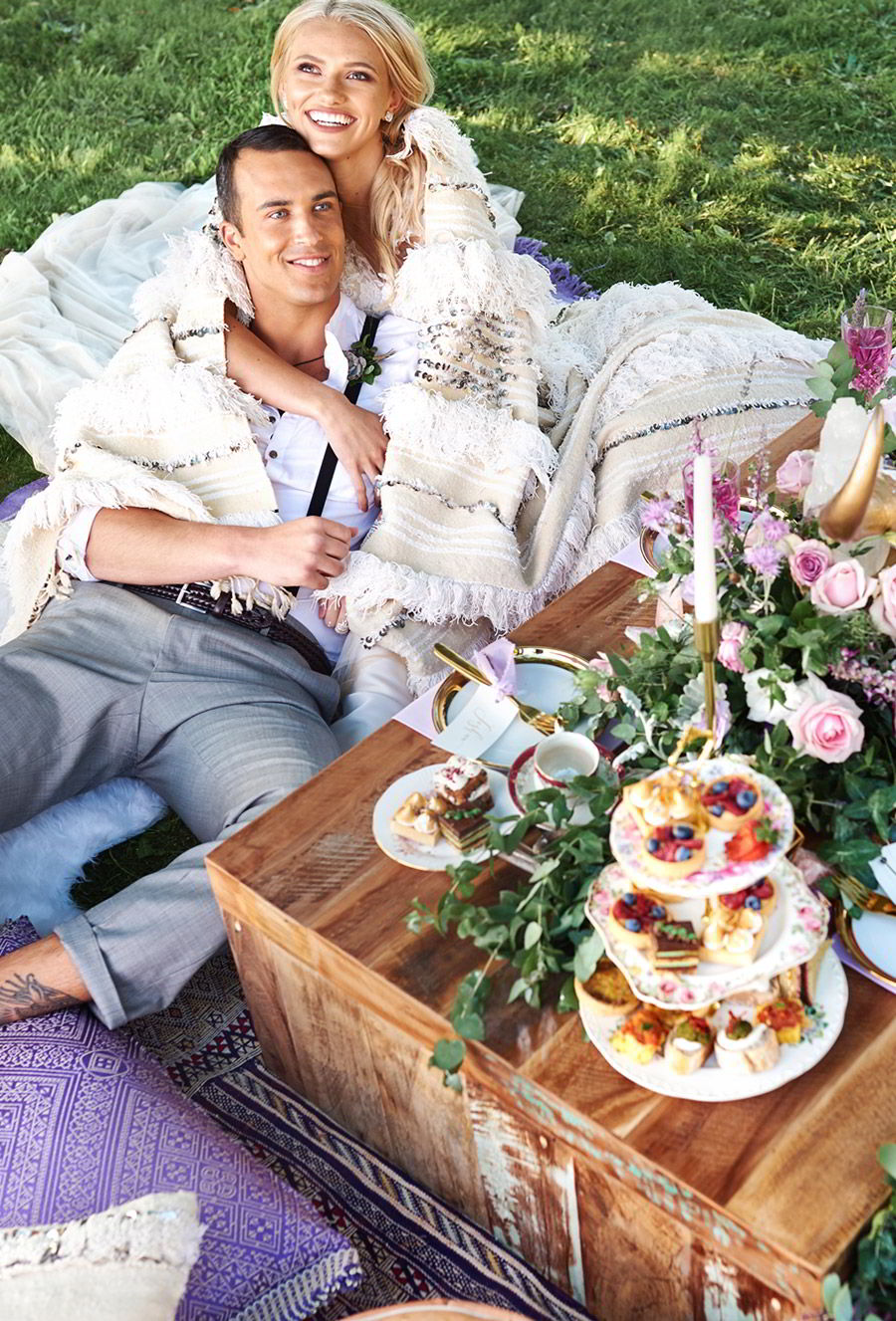 adorn invitation romantic bohemian luxury purrple gold wedding inspiration photo shoot tall