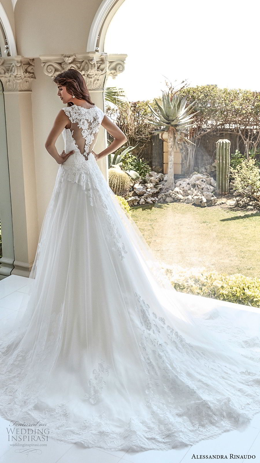 alessandra rinaudo 2018 bridal cap sleeves sweetheart neckline heavily embellished bodice elegant a line wedding dress covered lace back chapel train (33) bv