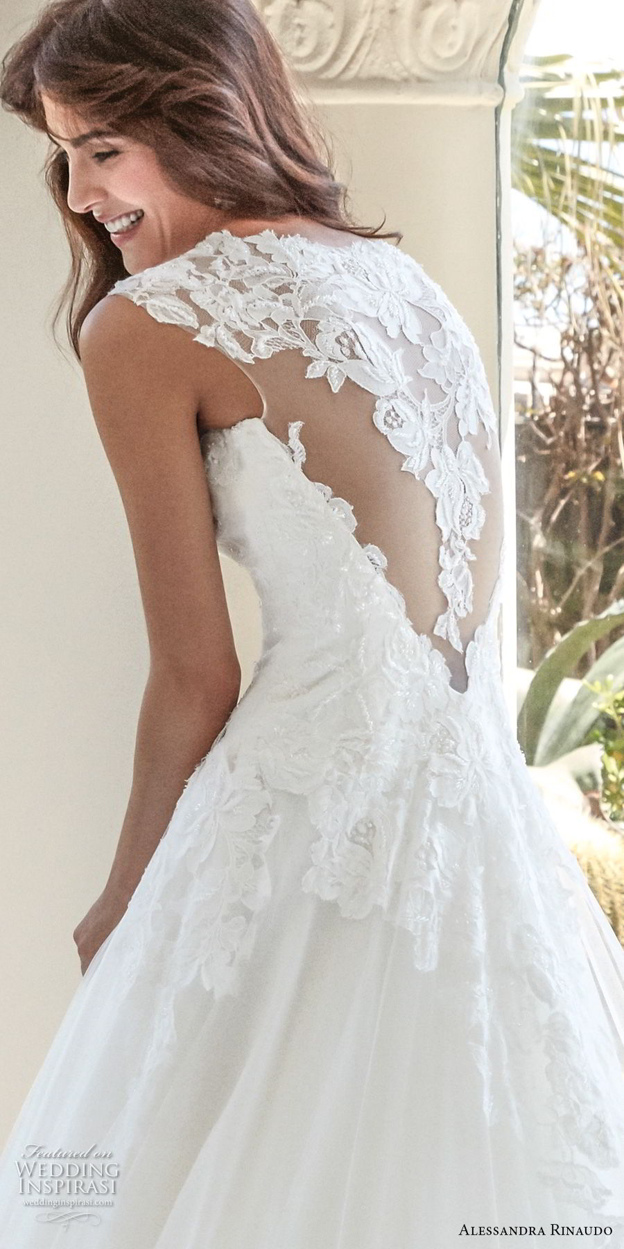 alessandra rinaudo 2018 bridal cap sleeves sweetheart neckline heavily embellished bodice elegant a line wedding dress covered lace back chapel train (33) zbv