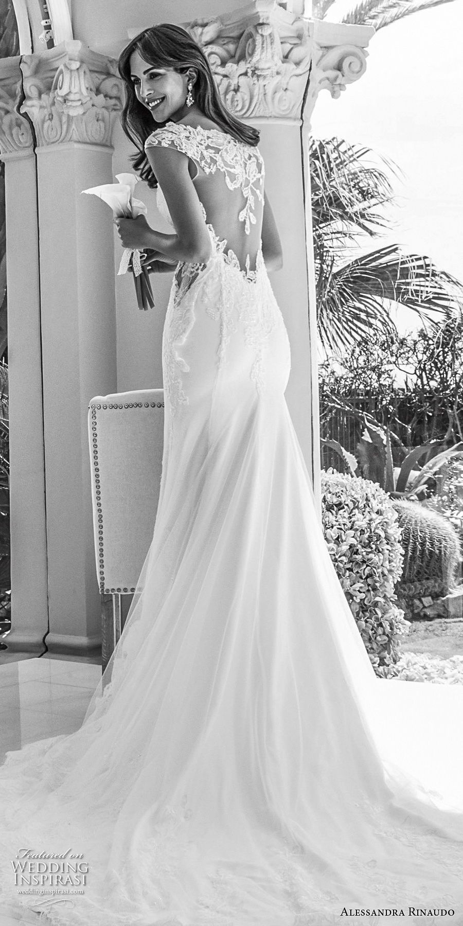 alessandra rinaudo 2018 bridal cap sleeves sweetheart neckline heavily embellished bodice elegant soft a line wedding dress sheer lace back chapel train (32) bv