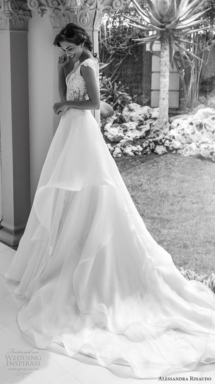 alessandra rinaudo 2018 bridal caps sleeves illusion bateau sweetheart neckline romantic a line wedding dress sheer back chapel train (40) sdv