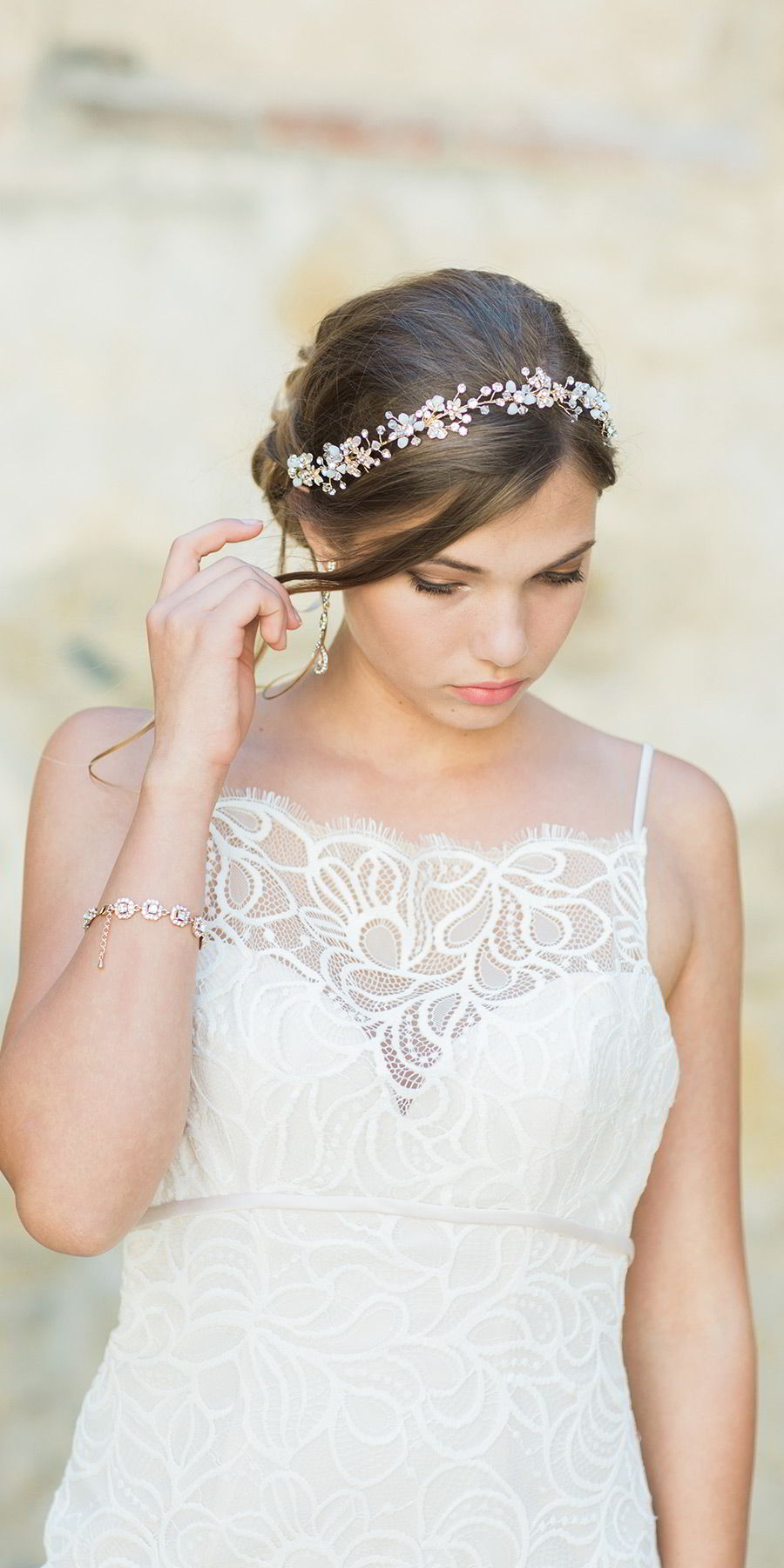 bel aire bridal accessories 6740 rhinestone crystal tie headpiece romantic wedding dress