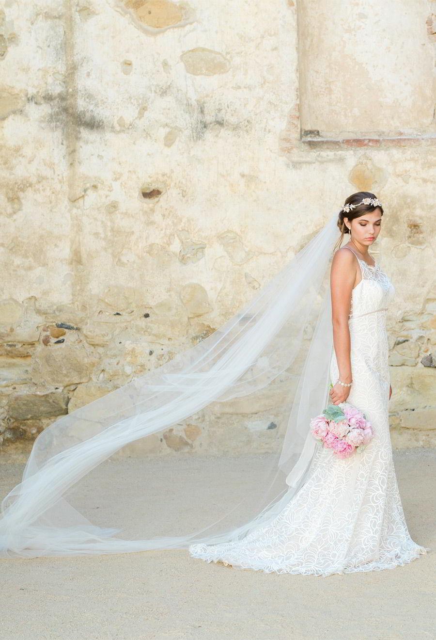 d7f1a32ba2 bel aire bridal accessories 6778 soft fabric flowers rhinestone pearl  headpiece V7333C cathedral veil wedding dress