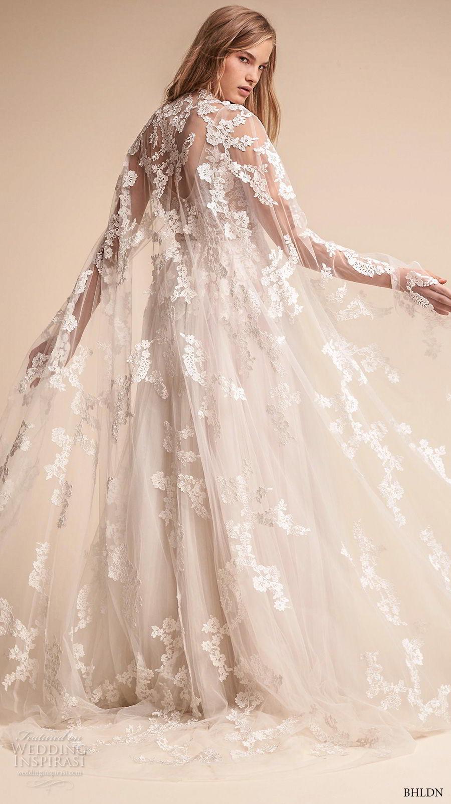 bhldn fall 2017  americana bridal floor length lace sheer wedding cape (anastasia) bv