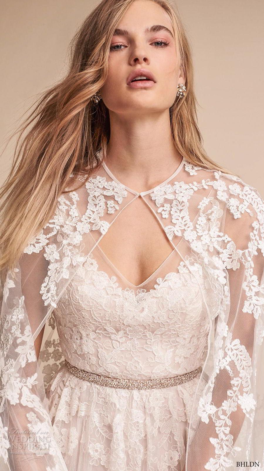 bhldn fall 2017  americana bridal floor length lace sheer wedding cape (anastasia) zv