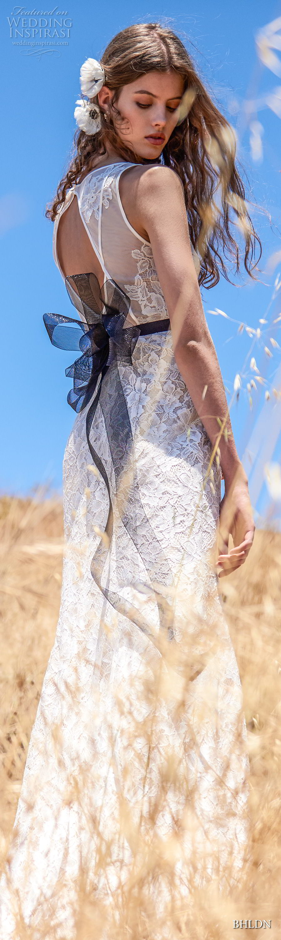 bhldn fall 2017  americana bridal sleeveless v neck full embellishment elegant sheath wedding dress keyhole back (essence) mv