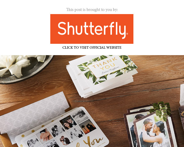 shutterfly bridal wedding stationery suite thank you banner