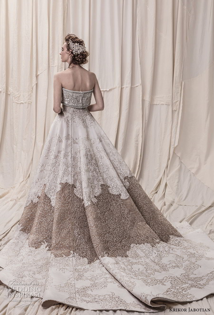 krikor jabotian spring 2018 bridal strapless straight across neckline full embellishment princess glamorous a line wedding dress royal train (09) bv