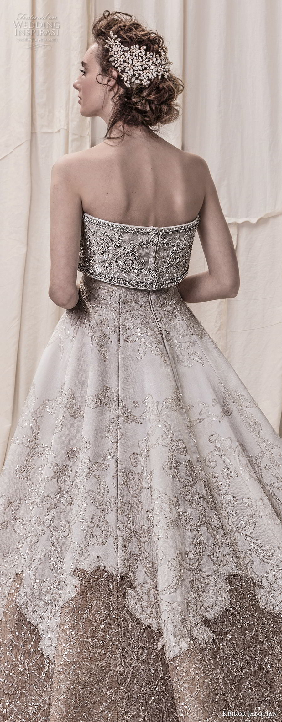 krikor jabotian spring 2018 bridal strapless straight across neckline full embellishment princess glamorous a line wedding dress royal train (09) zbv
