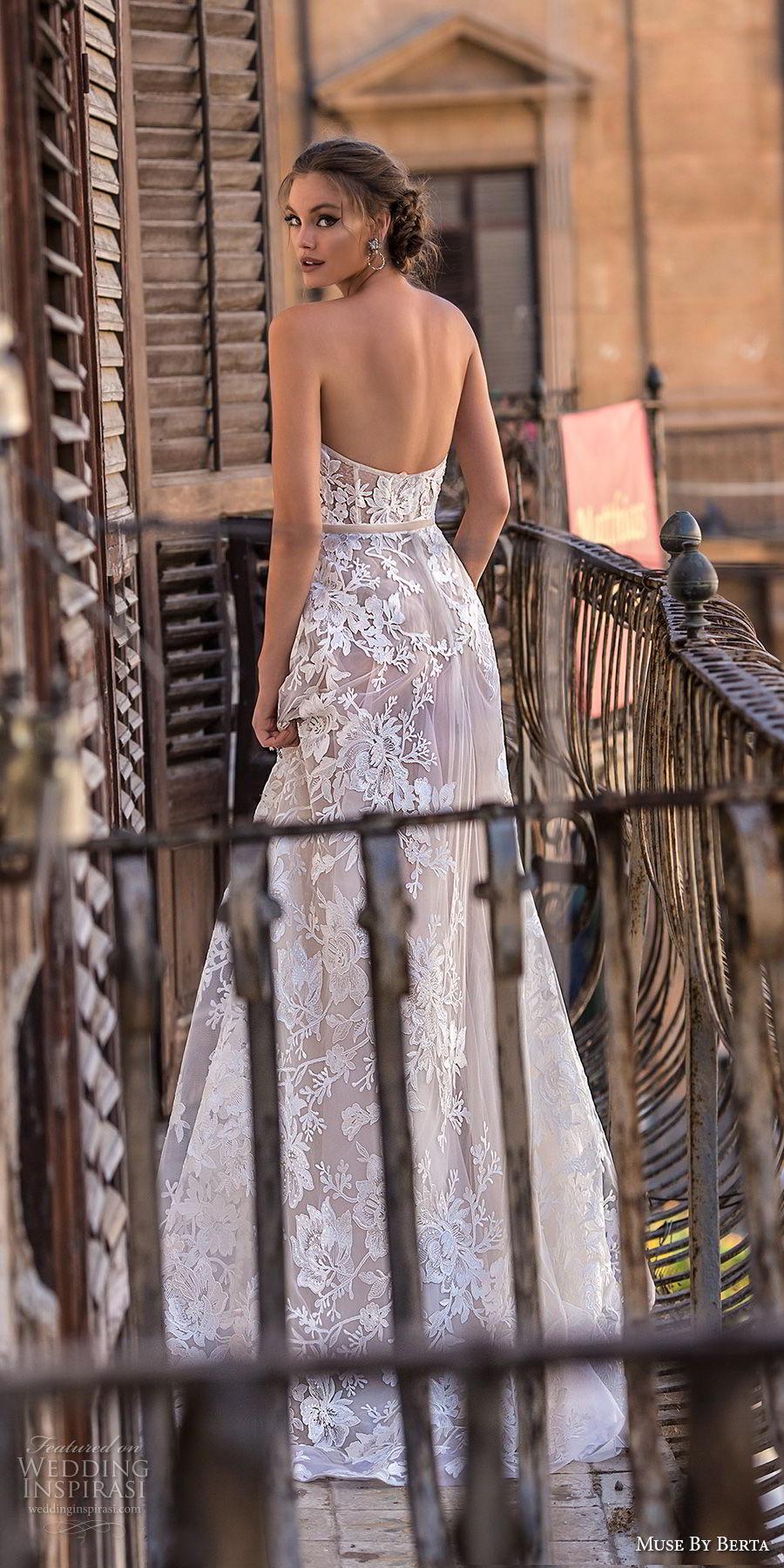 muse berta 2018 bridal strapless sweetheart neckline full embellishment romantic a  line wedding dress medium train (11) bv