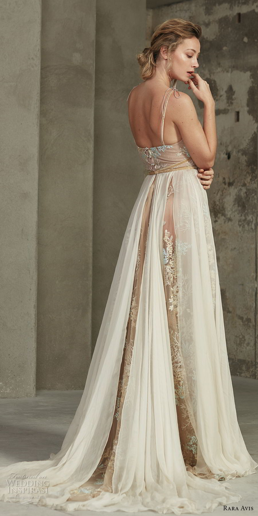 rara avis 2017 bridal thin strap sweetheart neckline full embellishment elegant romantic soft a line wedding dress sweep train (13) bv