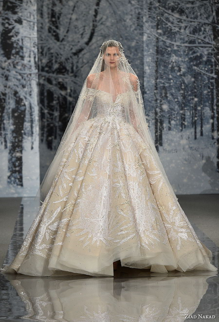 ziad nakad couture fall 2017 off the shoulder v neck  full embellishment glamorous princess ball gown a  line wedding dress open v back royal train (1) mv