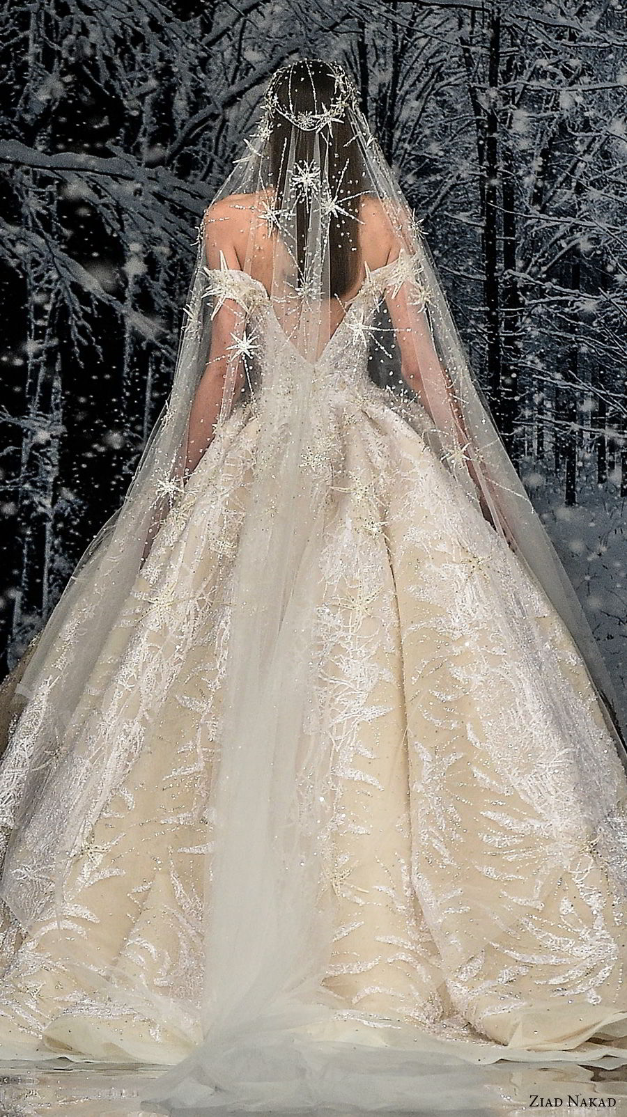 ziad nakad couture fall 2017 off the shoulder v neck full embellishment glamorous princess ball gown a line wedding dress open v back royal train (1) zbv