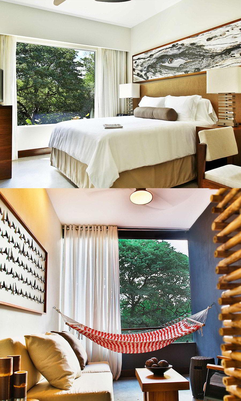 el mangroove gulf papagayo guanecaste costa rica boutique hotel honeymoon wedding venue bark suite bedroom hammock