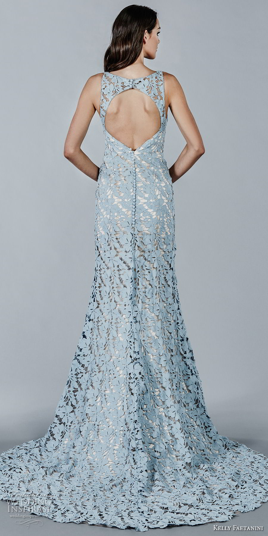 kelly faetanini fall 2018 bridal sleeveless bateau neck full lace embellishment blue color elegant trumpet wedding dress keyhole back chapel train (6) bv