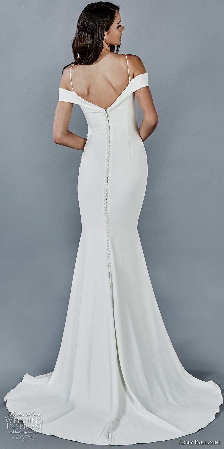 kelly faetanini fall 2018 bridal spaghetti strap off the shoulder sweetheart neckline simple clean fit and flare wedding dress sweep train (7) bv