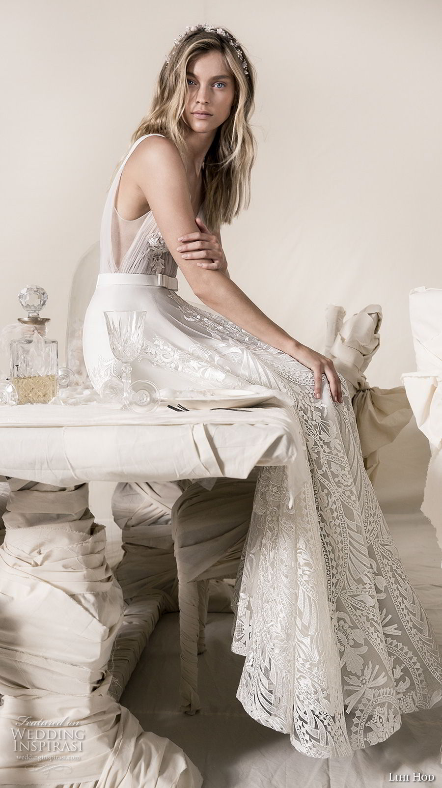 lihi hod 2018 bridal sleeveless deep v neck full embellishment romantic soft a  line wedding dress with pockets open v back sweep train (17) sdv
