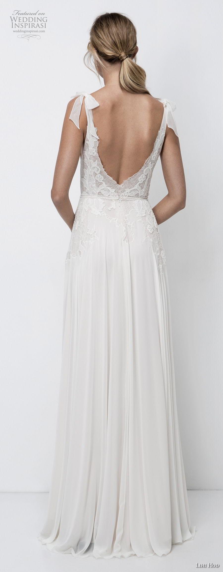 lihi hod 2018 bridal sleeveless v neck heavily embellished bodice romantic soft a  line wedding dress open v back sweep train (4) bv