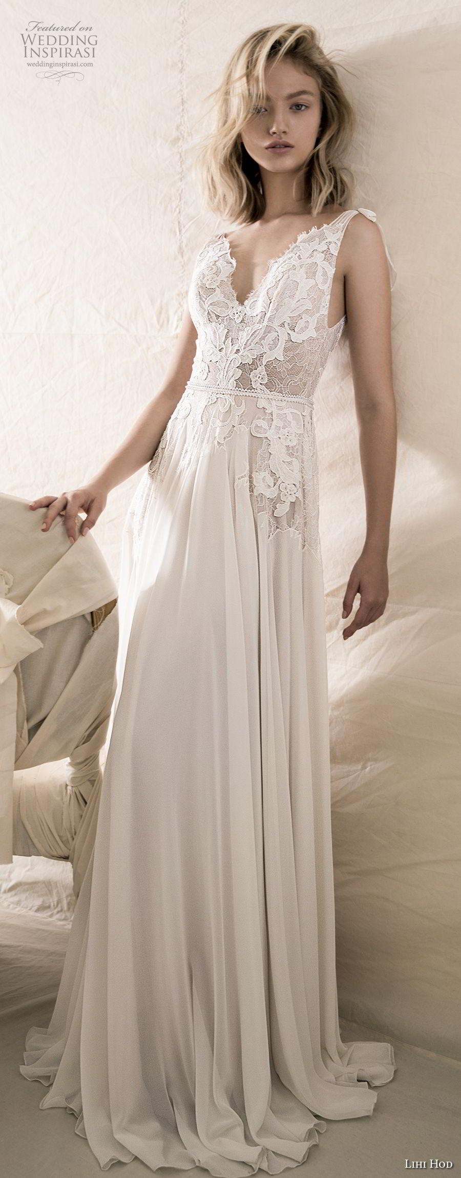 lihi hod 2018 bridal sleeveless v neck heavily embellished bodice romantic soft a  line wedding dress open v back sweep train (4) mv