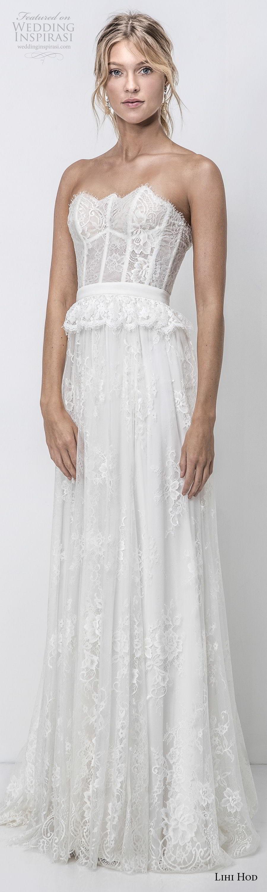 lihi hod 2018 bridal strapless straight across neckline full embellishment romantic bohemian soft a  line wedding dress open back medium train (7) lv