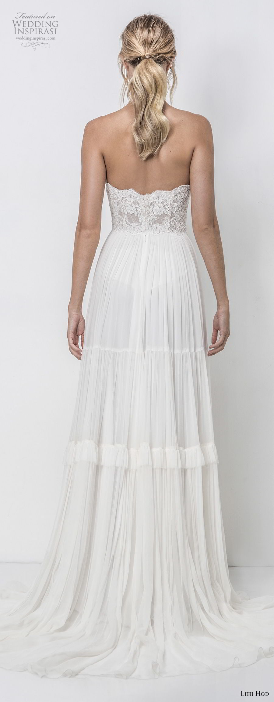 lihi hod 2018 bridal strapless straight across neckline heavily embellished bodice romantic bohemian soft a  line wedding dress medium train (3) bv