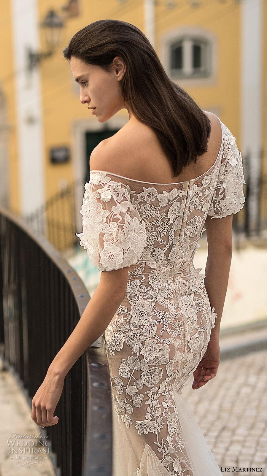 liz martinez 2018 lisbon off the shoulder sweetheart neckline full embellishment elegant romantic sheath fit and flare wedding dress (11) zbv