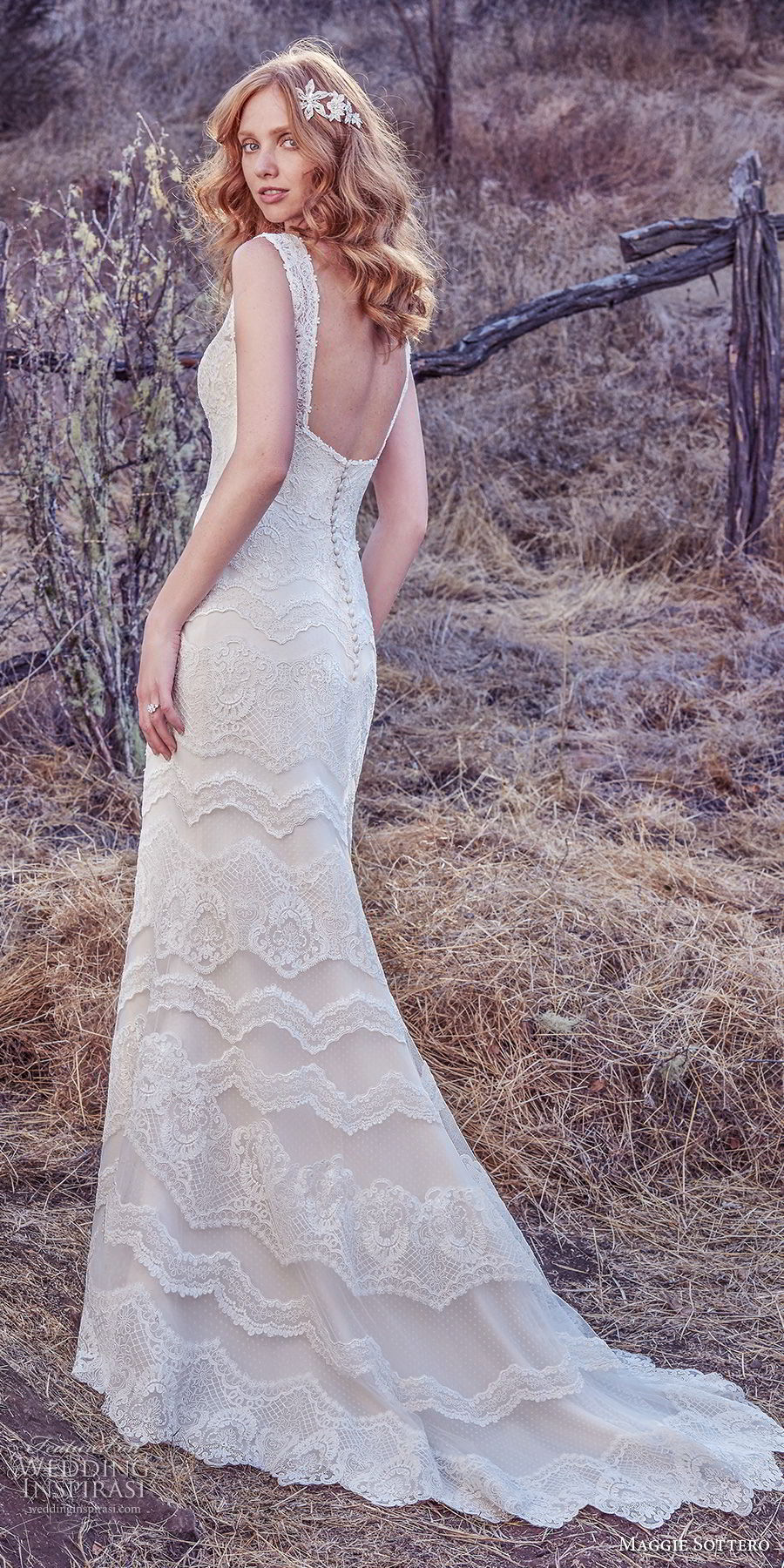 maggie sottero fall 2017 bridal sleeveless v neck full embellishment elegant sheath wedding dress open square back sweep train (608) bv