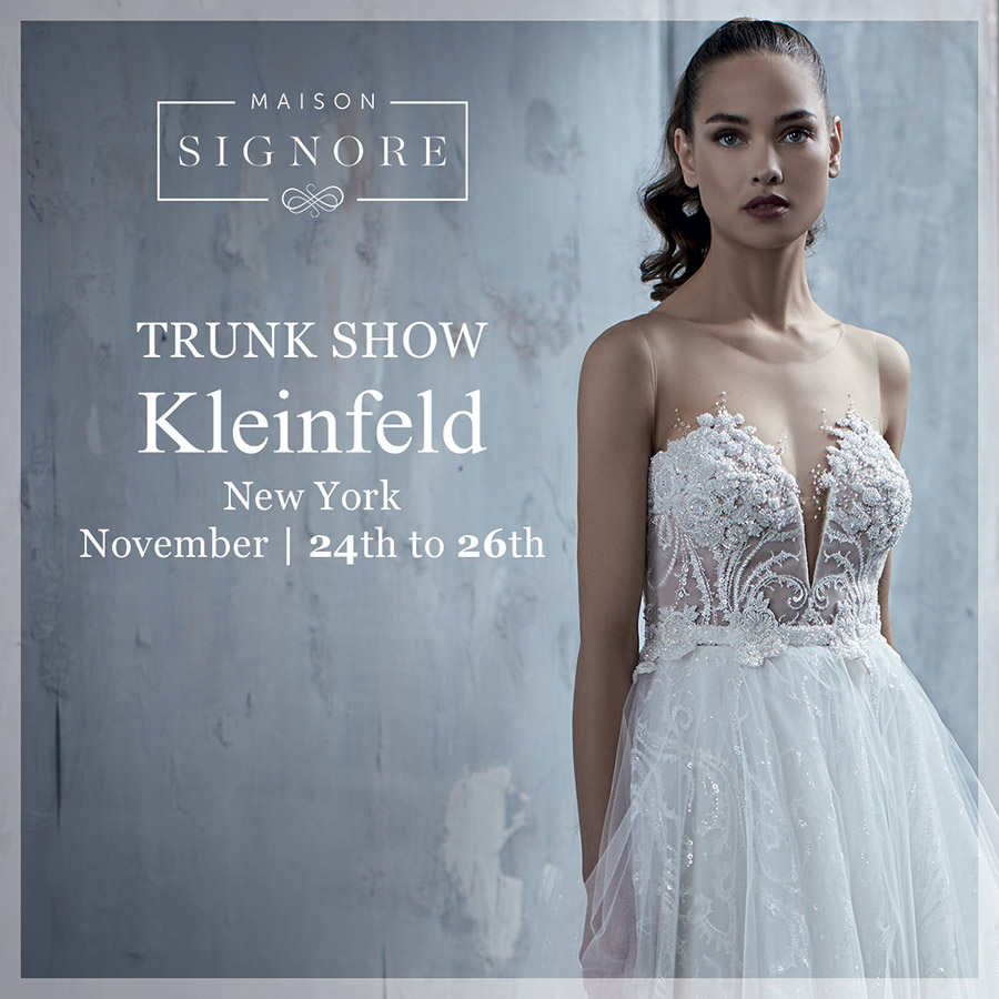 maison signore 2018 collections trunk show kleinfeld new york tatum seduction