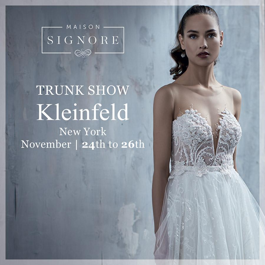maison signore 2018 collections trunk show kleinfeld new york tatum seduction