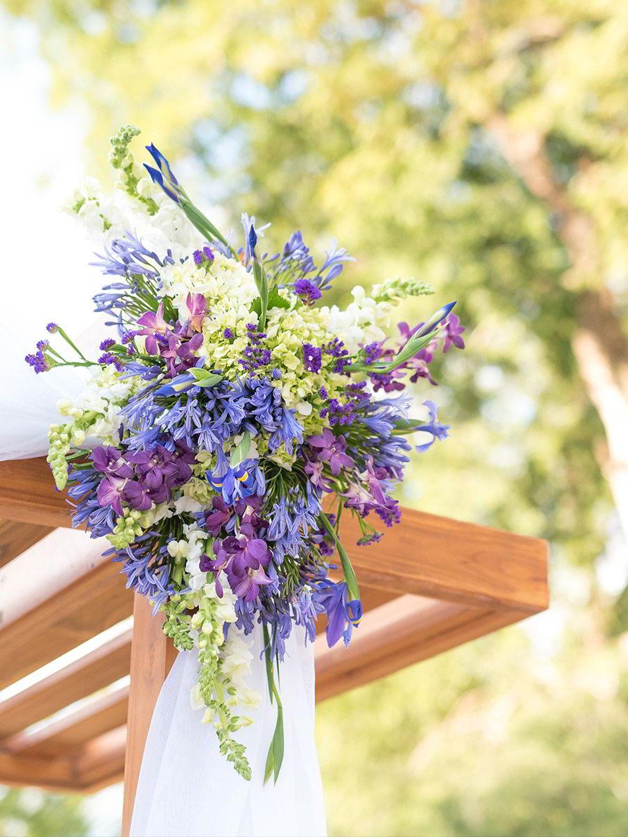 marriott el mangroove guanacaste costa rica honeymoon destination wedding venue purple flower wedding theme