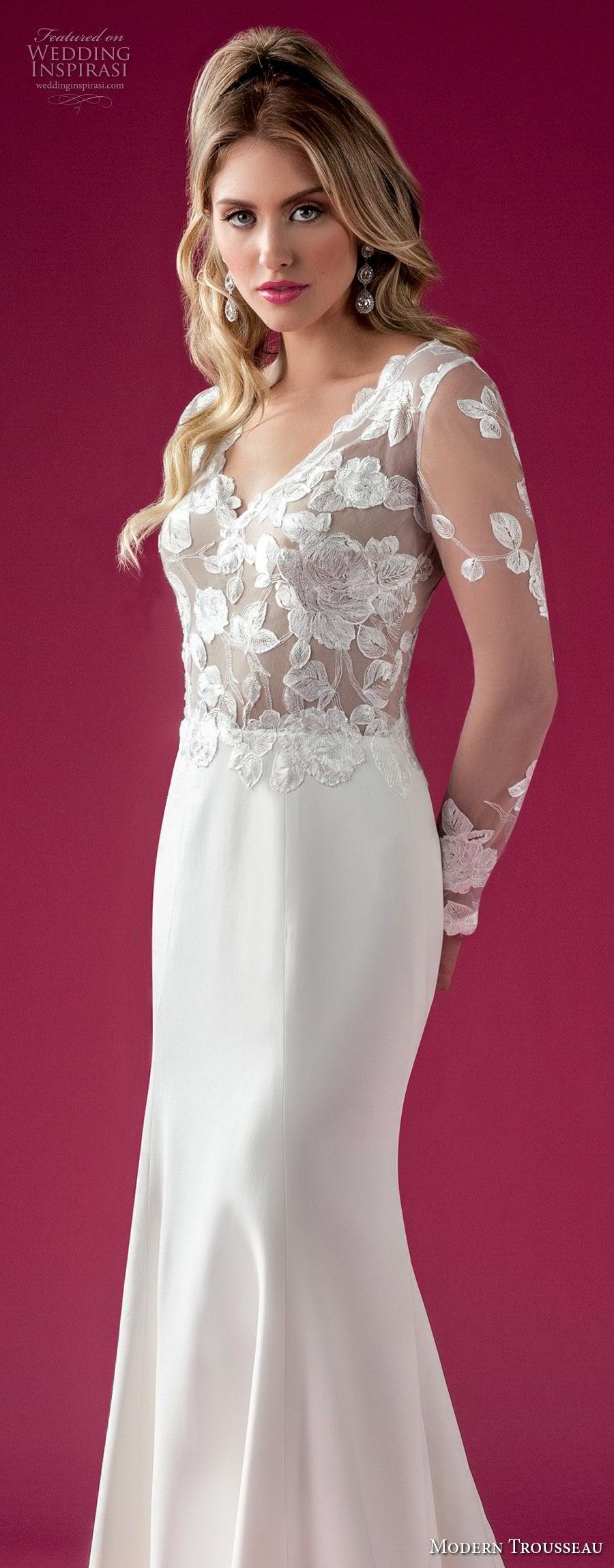 Modern Trousseau Fall 2018 Wedding Dresses Wedding Inspirasi