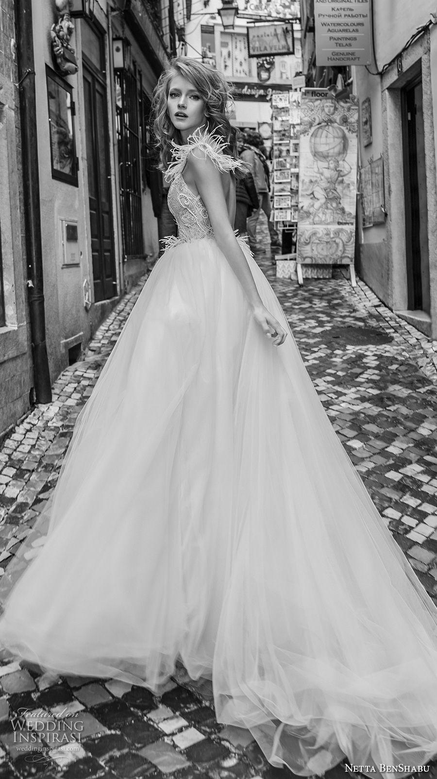 netta benshabu 2017 bridal cap sleeves sweetheart neckline heavily embellished bodice princess ball gown wedding dress open back chapel train (19) sdv