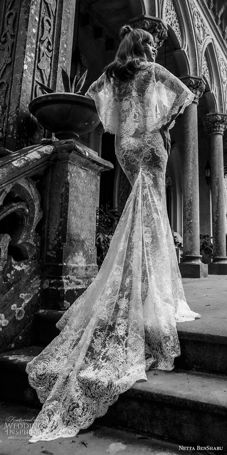 netta benshabu 2017 bridal strapless sweetheart neckline full embellishment elegant sheath wedding dress chapel train (14)  bv
