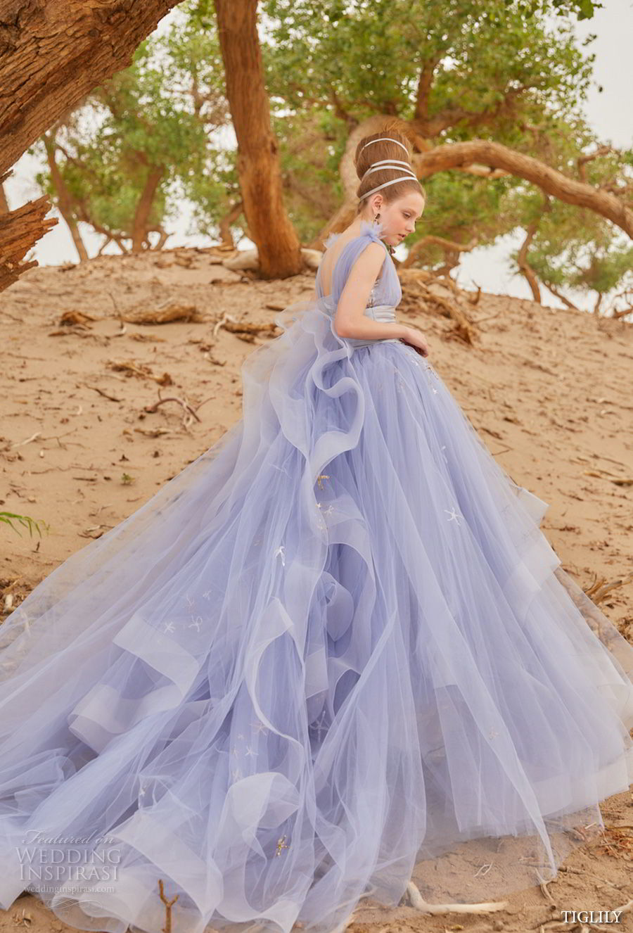 tiglily 2018 bridal purpose purple color wedding gown (mia) mv