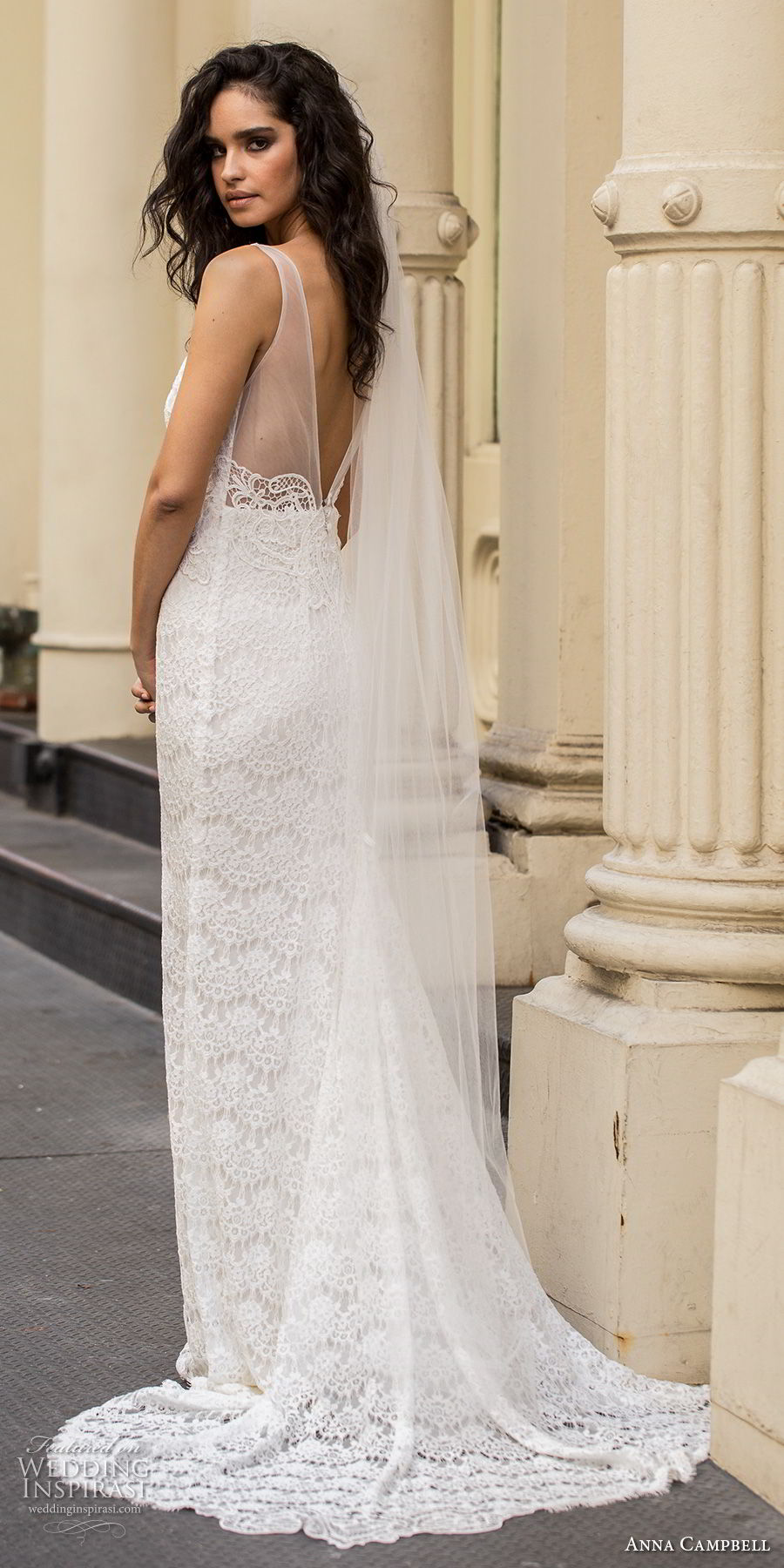 anna campbell fall 2018 bridal sleeveless v neck full embellishment elegant romantic fit and flare sheath wedding dress open v back sweep train (6) bv